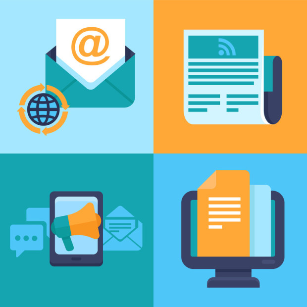 Vector email marketing concepts – flat icons
